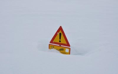 Sneeuw in Landmannalaugar, IJsland, 2011