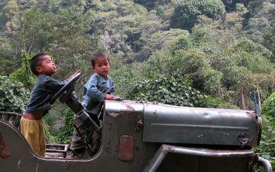 Terug in Yuksam, Sikkim, India, 2009