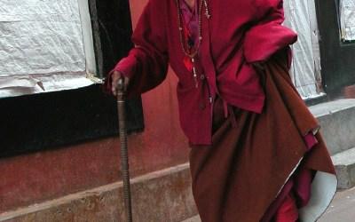 Oudere bij Rumtek Monastery, Sikkim, India, 2009