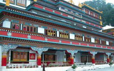 Ghum Monastery, 8 km buiten Darjeeling, West-Bengalen, India, 2009