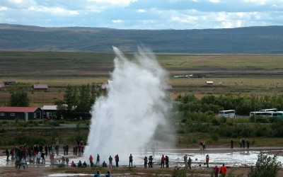 IJsland, springbron Strokkur