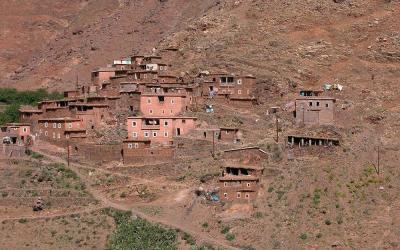 Dorpje tijdens Toubkal Trekking, Marokko, 2006