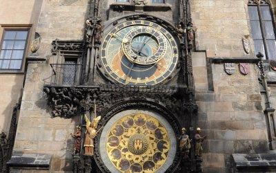 Oude Raadhuis met astronomische klok Orjoj, Praag, Tsjechië, 2010