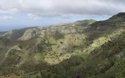 La Gomera, onderweg van Degollada de Peraza naar San Sebastian