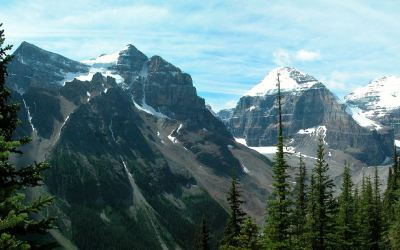 Wandeling Plain of the Six Glaciers, Lake Louise, Canada, 2008