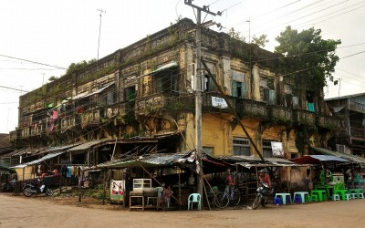 Myanmar, Bago, in de buurt van treinstation
