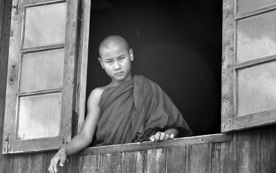 Myanmar, klooster in de buurt van Kyaukme