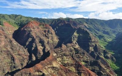 Helicoptervlucht boven Waimea Cayon, Kauai, Hawaii, 2011