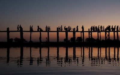 Myanmar, Amarapura, U-Bein brug
