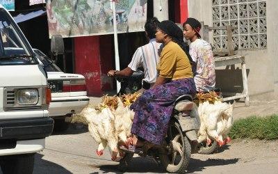 Myanmar, Mandalay, straatbeeld