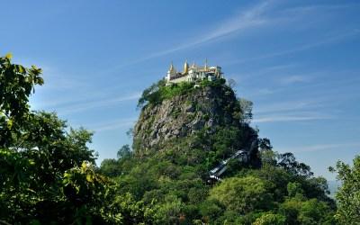 Myanmar, Mount Popa, Taung Kalat