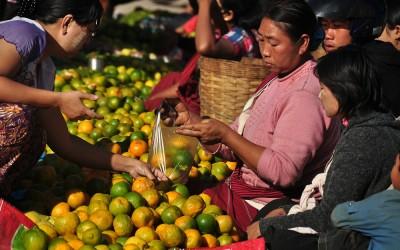 Myanmar, markt in Kalaw