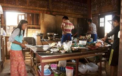 Myanmar, Inle Meer, restaurant
