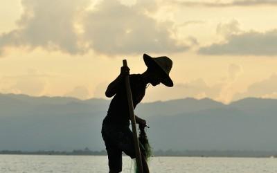 Myanmar, Inle Meer, visser