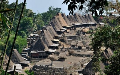 Traditioneel dorp Luba, near Bajawa, Flores, Indonesië, 2012