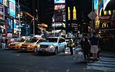Night at New York City, Time Square, HDR, 19-9-2014