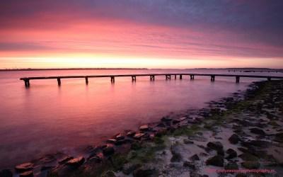 Zonsopkomst bij Veerse meer, 28-2-2015