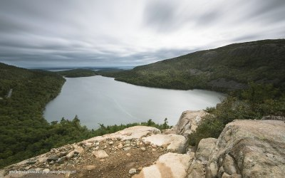 Jordans Pond vanaf South Bubble Mt, Acadia NP, USA, 1-10-2015