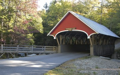 Flume Covered Bridge, Franconia State Park NH, USA, 6-10-2015