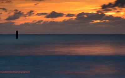 Zonsondergang bij Westkapelle, 28-2-2016