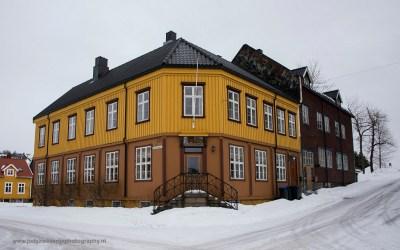 Huizen in Kabelvag, Lofoten, Noorwegen, 7-3-2016