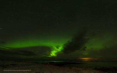Noorderlicht, Laukvik, Lofoten, Noorwegen, 8-3-2016