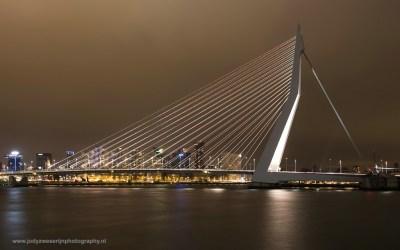 Erasmusbrug, Rotterdam, Nederland, 19-3-2016