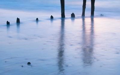 Zonsondergang aan het strand van Sangatte, Opaalkust, Frankrijk, 3-5-2016