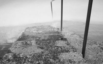 Trap bij strand, Sangatte, Opaalkust, Frankrijk, 4-5-2015