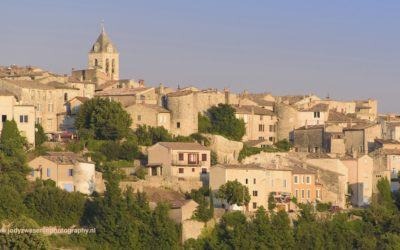 Zonsondergang bij Sault, Provence, Frankrijk, 10-7-2016
