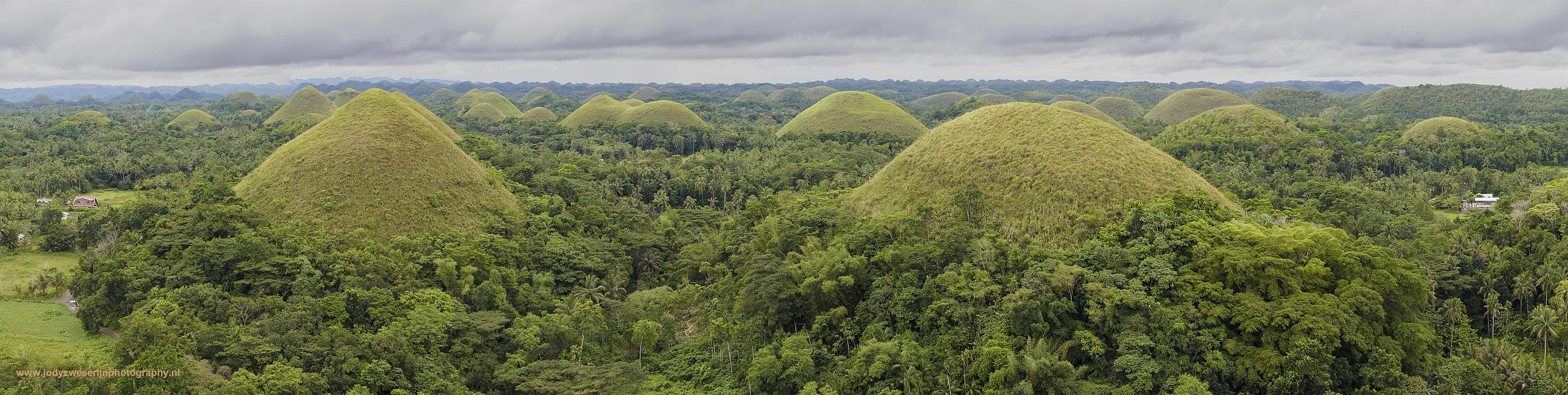 Chocolate Hills, Bohol, Filipijnen, 7-11-2017