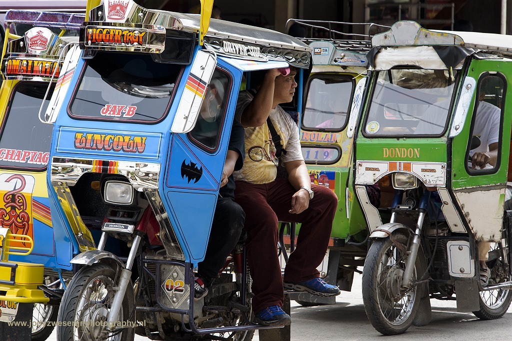 Tricycle, Bontoc, Luzon, Filipijnen, 17-11-2017