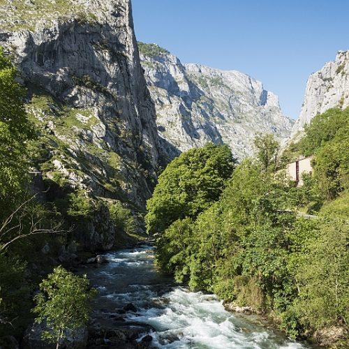 Start van de wandeling Ruta del Cares, Picos de Europa, Spanje, 21-5-2018
