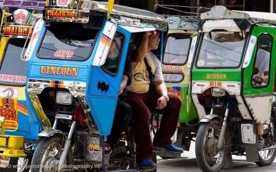 Tricycles in Bontoc, Luzon, Filipijnen, 17-11-2017