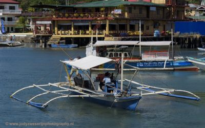 Haven van Coron City, Coron, Filipijnen, 28-11-2017