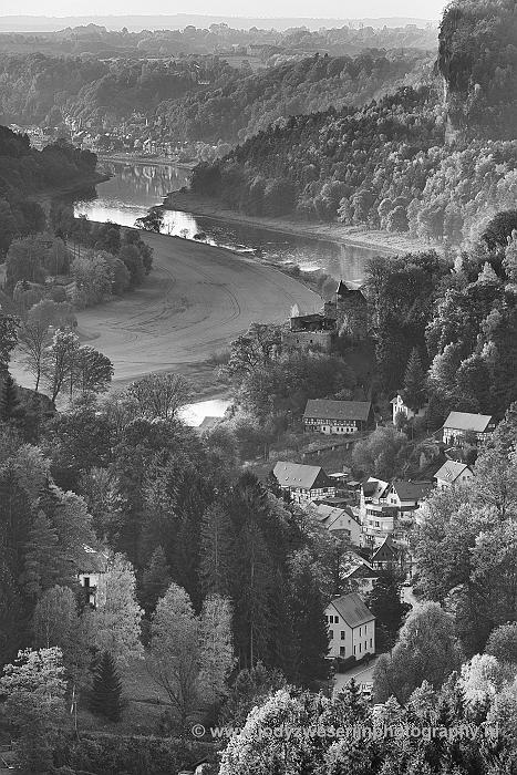 Gamrig richting Rathen, Sächsische Schweiz, Duitsland, 21-10-2018