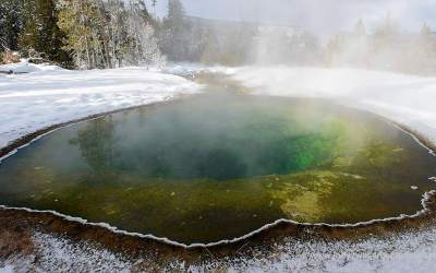 Morning Glory Pool, Yellowstone, USA, 28-5-2019