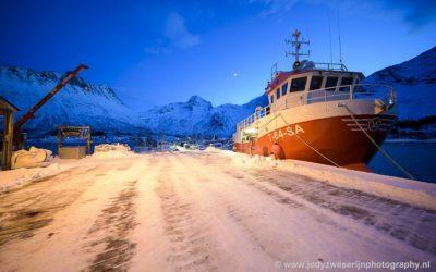 Senjahopen haven, Noorwegen, 30-1-2020