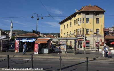 Stadsgezicht, Serajevo, Bosnië, september 2019