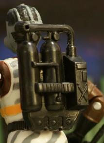 The Corps Weapon GASMAN Backpack Mustard Lanard Original Figure Accessory