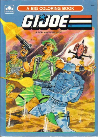 GI Joe Big Coloring Book (1989 Golden)