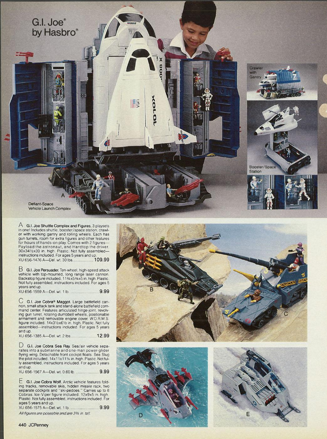 GI Joe 1987 Defiant Gun Crawler Cannon w Mount Vintage Vehicle Part Hasbro