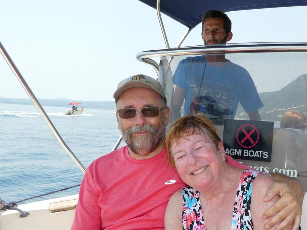 Trip - Joe and Di in the water taxi.
