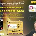 Presentación de la novela El sacerdote ateo de Joe Barcala, Puebla
