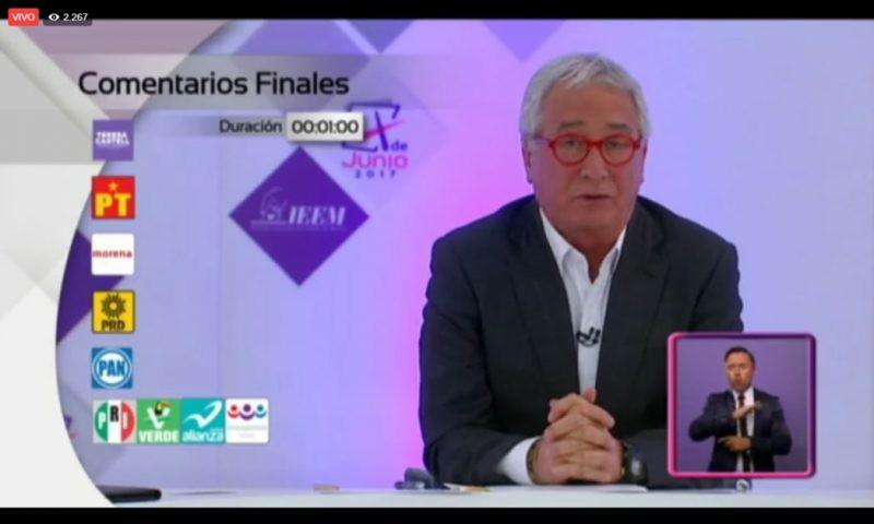 El primer debate de los candidatos al Estado de México
