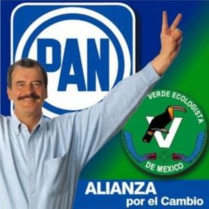Vicente Fox y la Alianza por el Cambio, pan y partido verde
