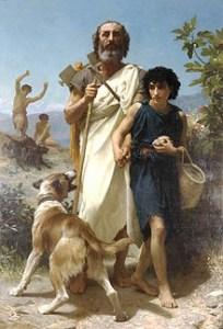 Escritor Homero de Grecia