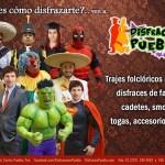 DISFRACES PUEBLA. RENTA Y VENTA. UBICACIÓN, CATÁLOGO Y SERVICIOS