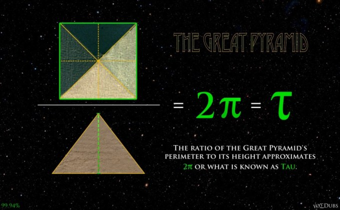Pi and Tau encoded in the Great Pyramid