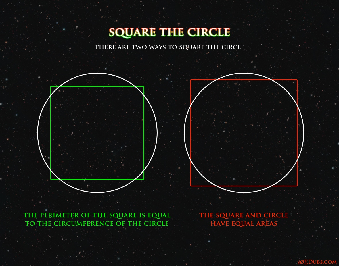 There's Two Ways To 'square The Circle'